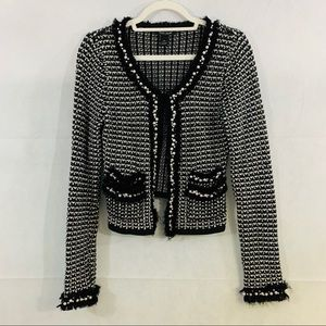 WHBM cardigan with faux pearl embellishment